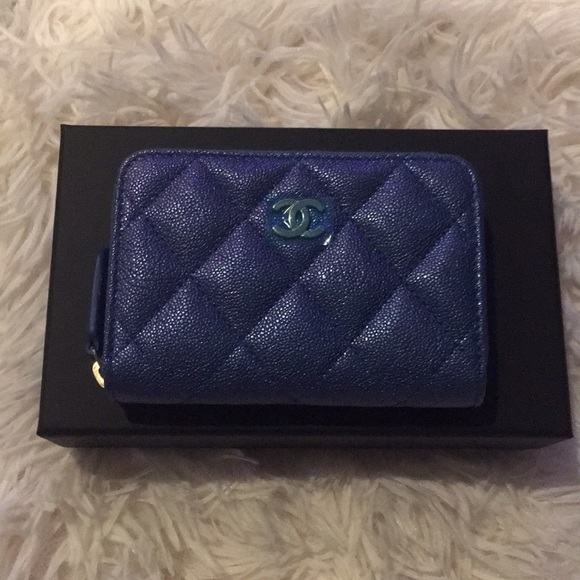 4c46a7d3ed7a CHANEL Bags | Authentic Iridescent Blue Zippy Coin | Poshmark